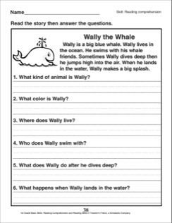 Wally the Whale (A Reading Comprehension Passage with ...