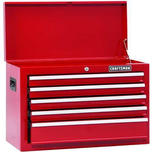 Craftsman 114262 Top Chest 5 Drawer Red Sears Outlet Drawers Craftsman Wooden Buildings