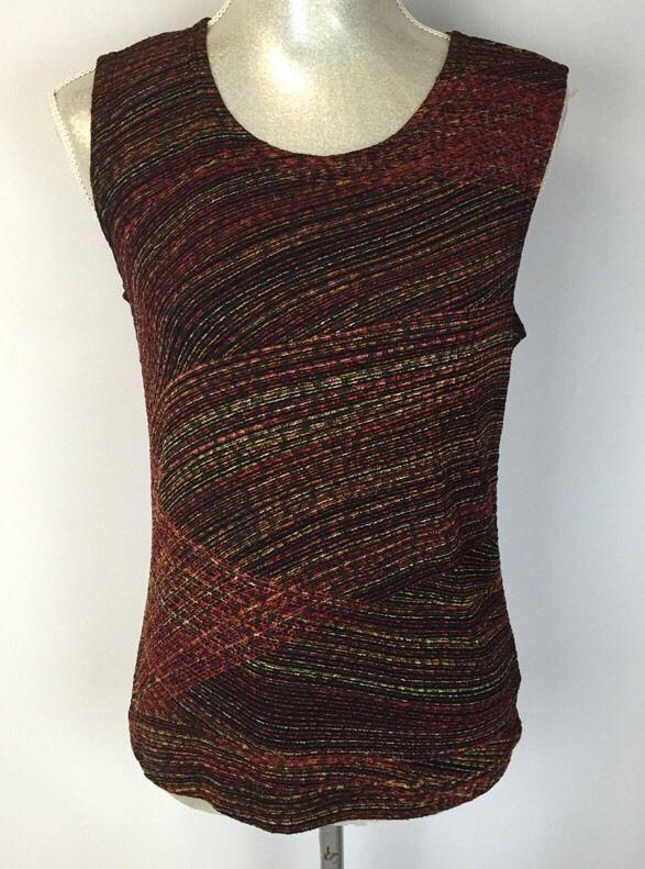 Womens Coldwater Creek Red Black White Under Shirt Tank Top Size XS  #ColdwaterCreek #TankCami #Casual