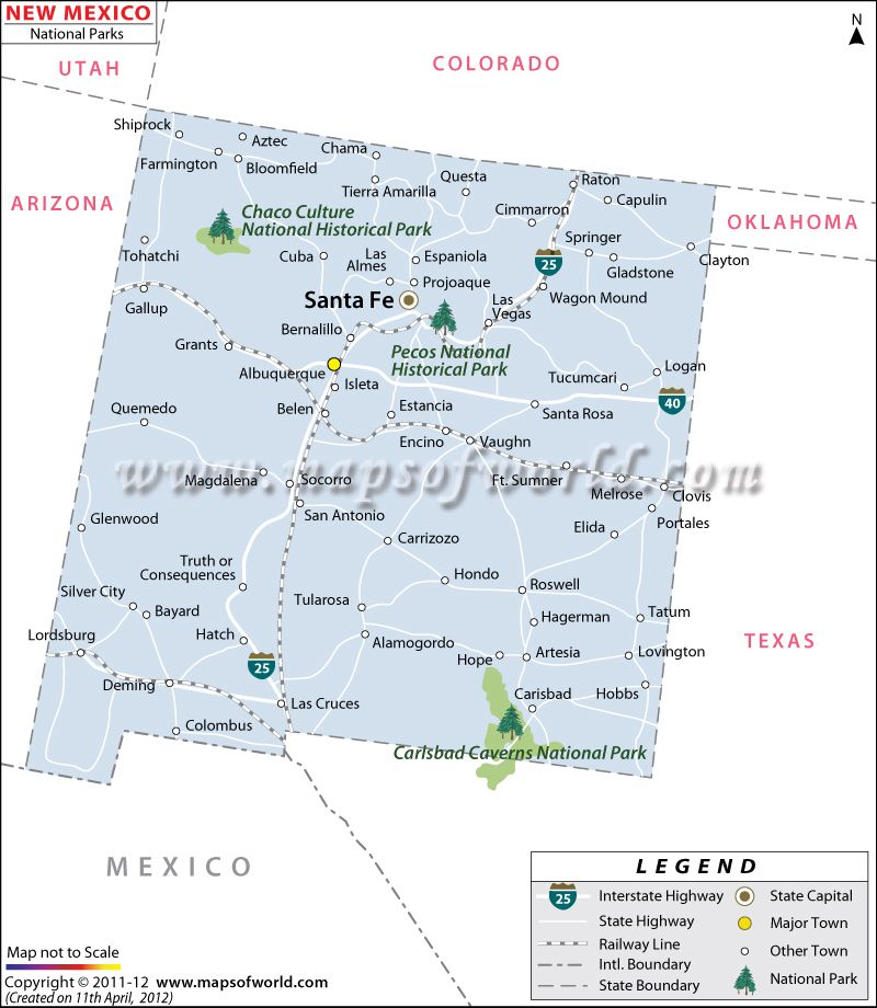 New Mexico National Parks Map in 2019 | Travels | Carlsbad caverns on