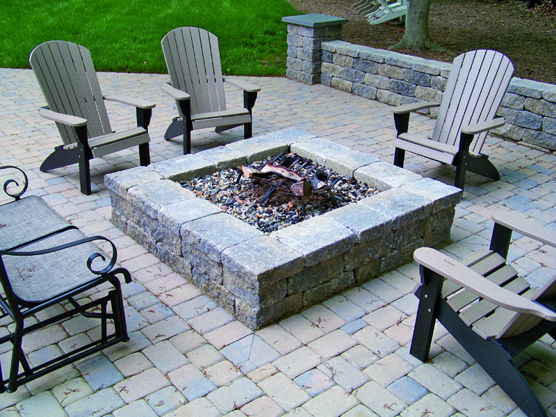 Small Scale Projects Timberstone Design Build Paver Fire Pit Fire Pit Plans Square Fire Pit