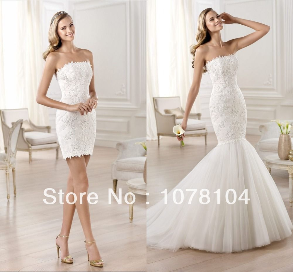 Stunning scalloped neckline lace appliqued mermaid detachable skirt stunning scalloped neckline lace appliqued mermaid detachable skirt wedding dresses wedding party dresses 2014 us 19800 junglespirit Image collections