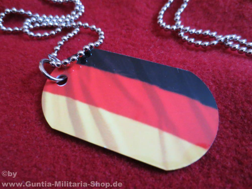 Dog Tag Deutschland, Erkennungsmarke / mehr Infos auf: www.Guntia-Militaria-Shop.de