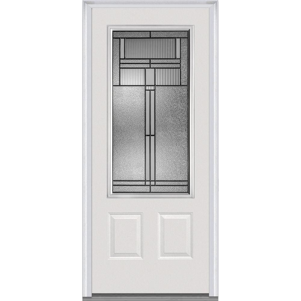 Nice MMI Door 32 In. X 80 In. Brighton Left Hand 3/4 Lite 2 Panel Classic Primed  Steel Prehung Front Door. Steel Exterior DoorsDecorative GlassFront ...