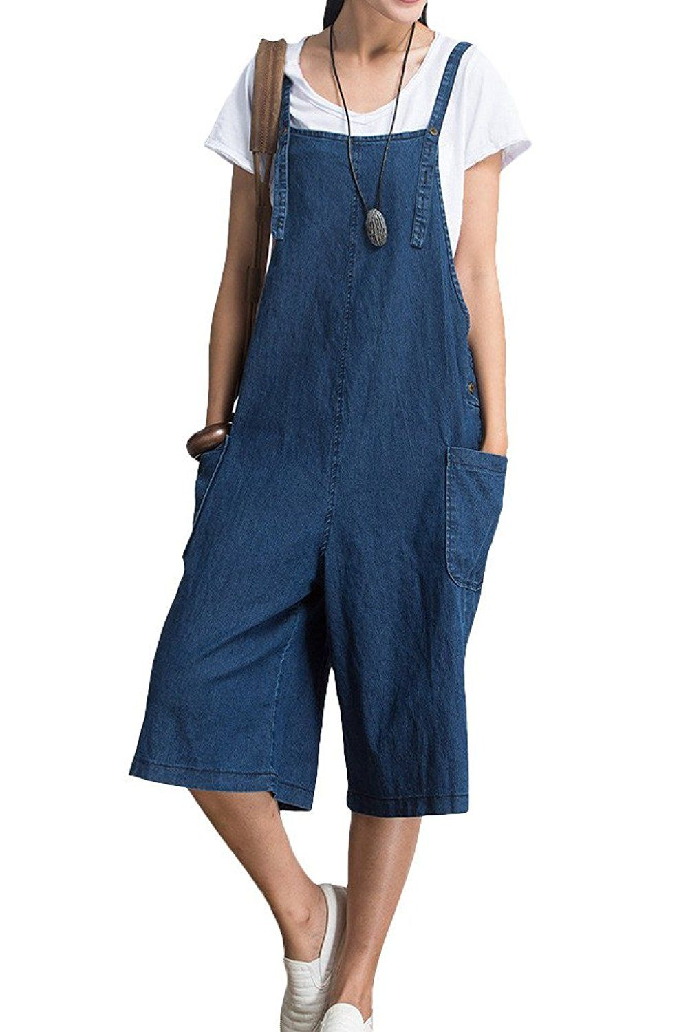 Mordenmiss Womens Strapless Wide Leg Jean Jumpsuit This Is An