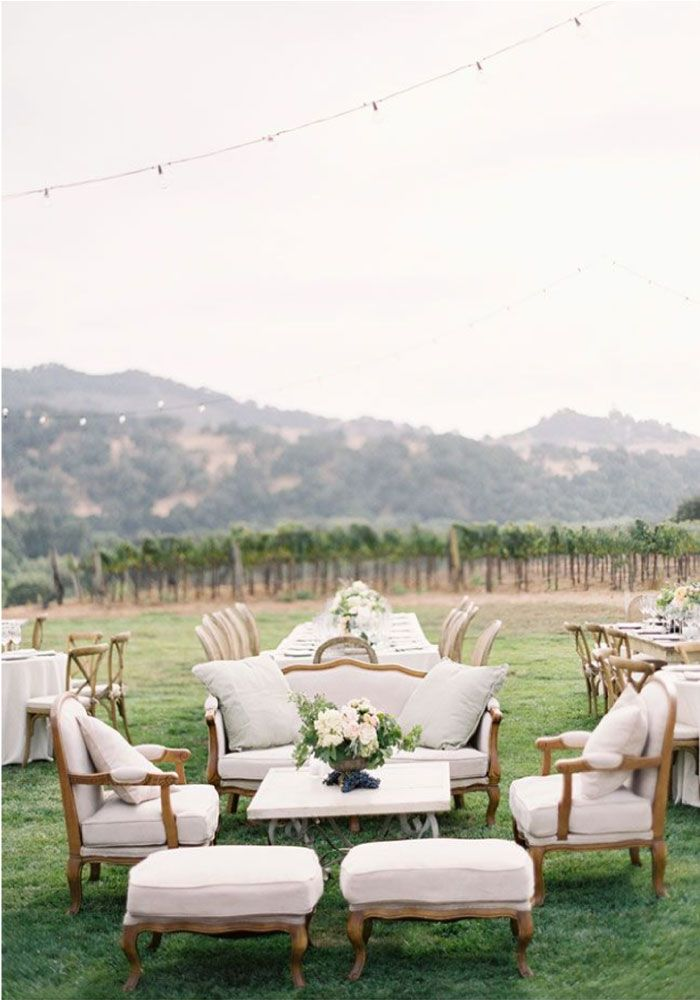 Vintage Vineyard Wedding Decor