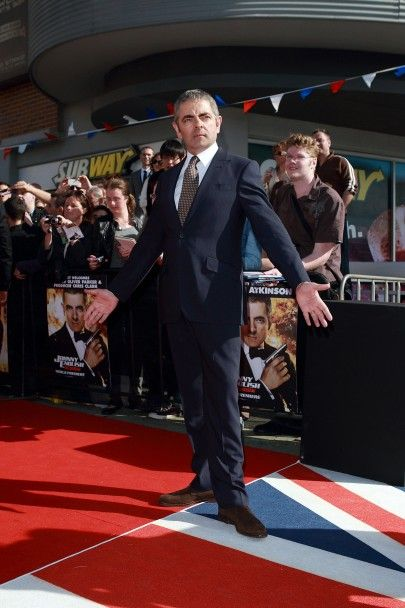 Rowan Atkinson at the Johnny English Reborn World Premiere in Sydney, Australia on 4 September 2011.
