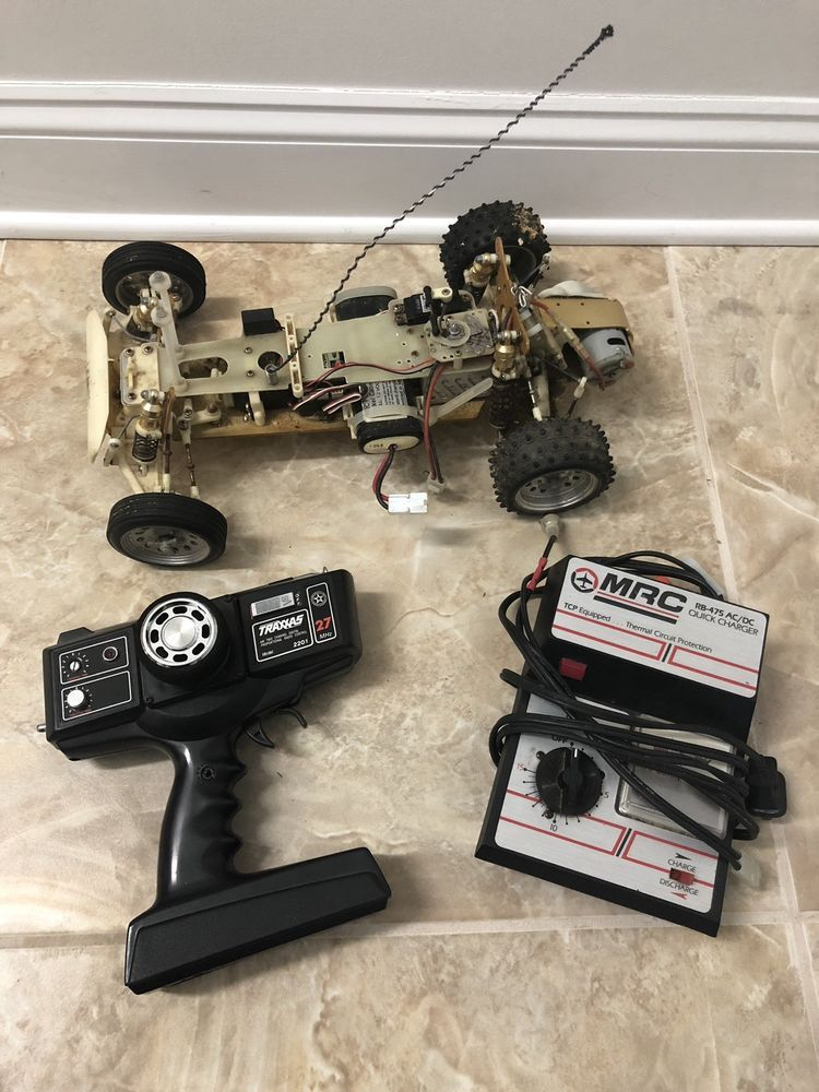 Vintage Traxxas Bullet Rare Rc Car W Remote And Parts