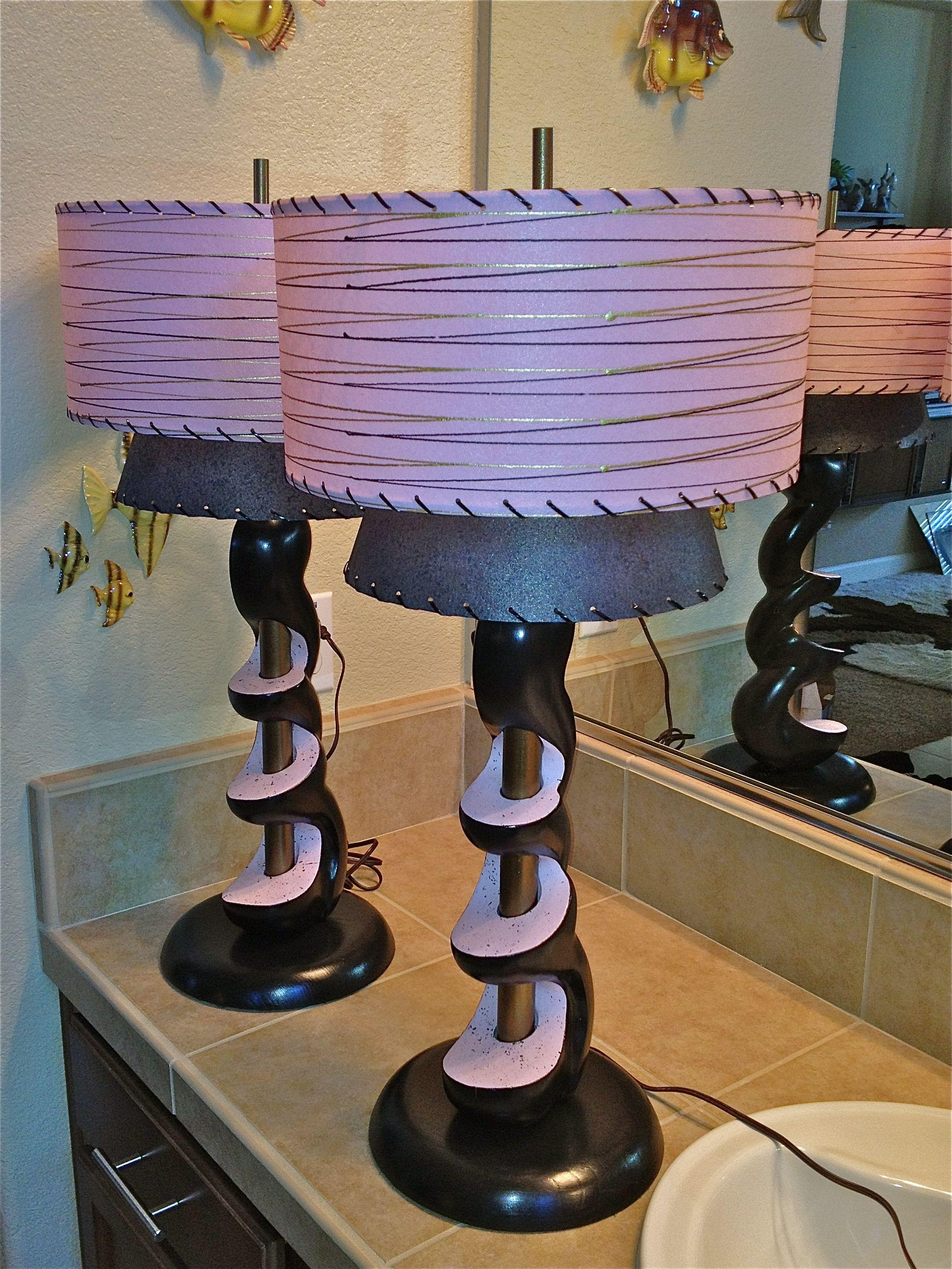 Retro Pink Black Lamps