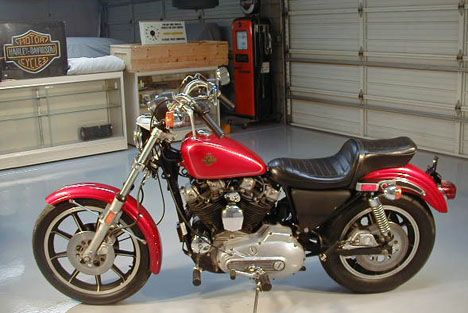 Picture of 1981 Sportster Ironhead AMF Harley XLH motorcycle in
