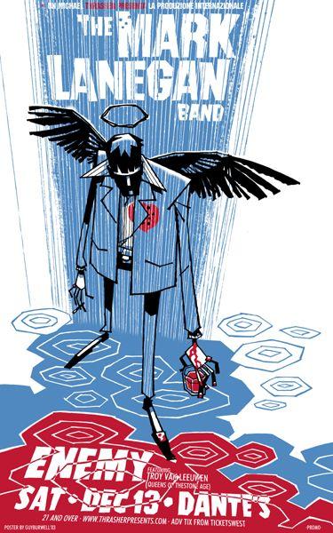 Gigposters Com Mark Lanegan Enemy Concert Poster Art Concert Poster Design Rock Poster Art