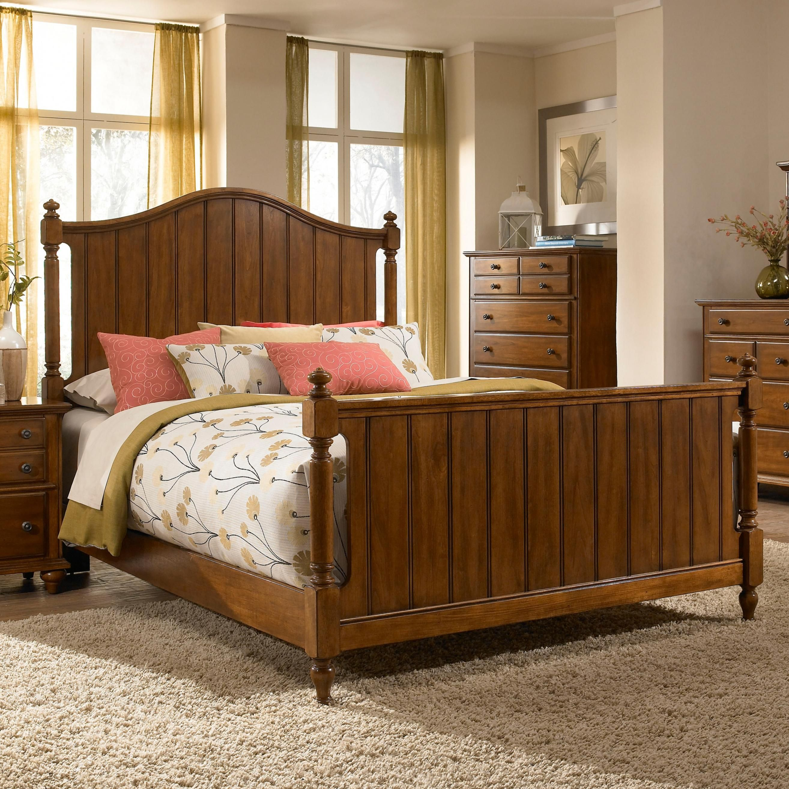 Hayden Place King Headboard and Footboard Bed by Broyhill