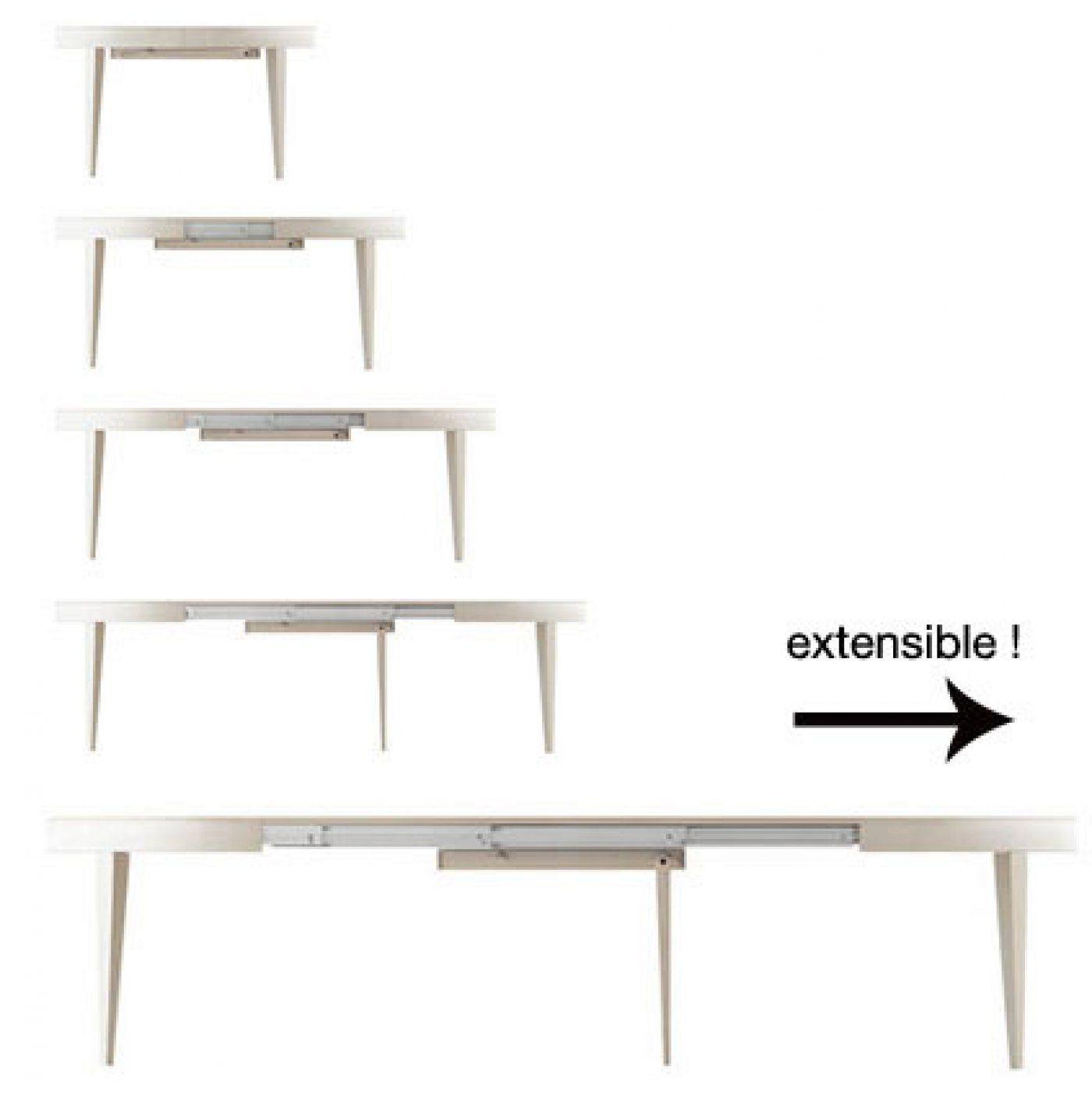 Table Ronde Extensible Suzie Chêne Clair: Table Ronde Extensible Edo Tendo - Bauline