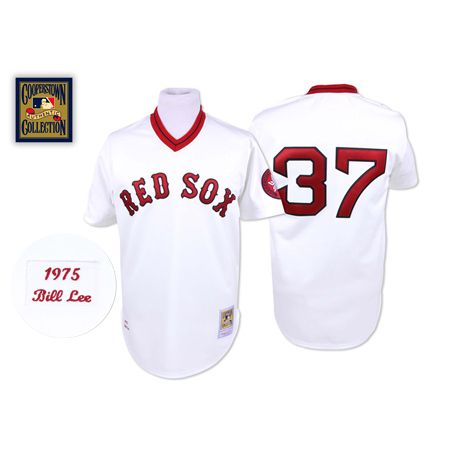 online store 39e76 de12e Boston Red Sox #37 Throwback Throwback Mitchell And Ness ...