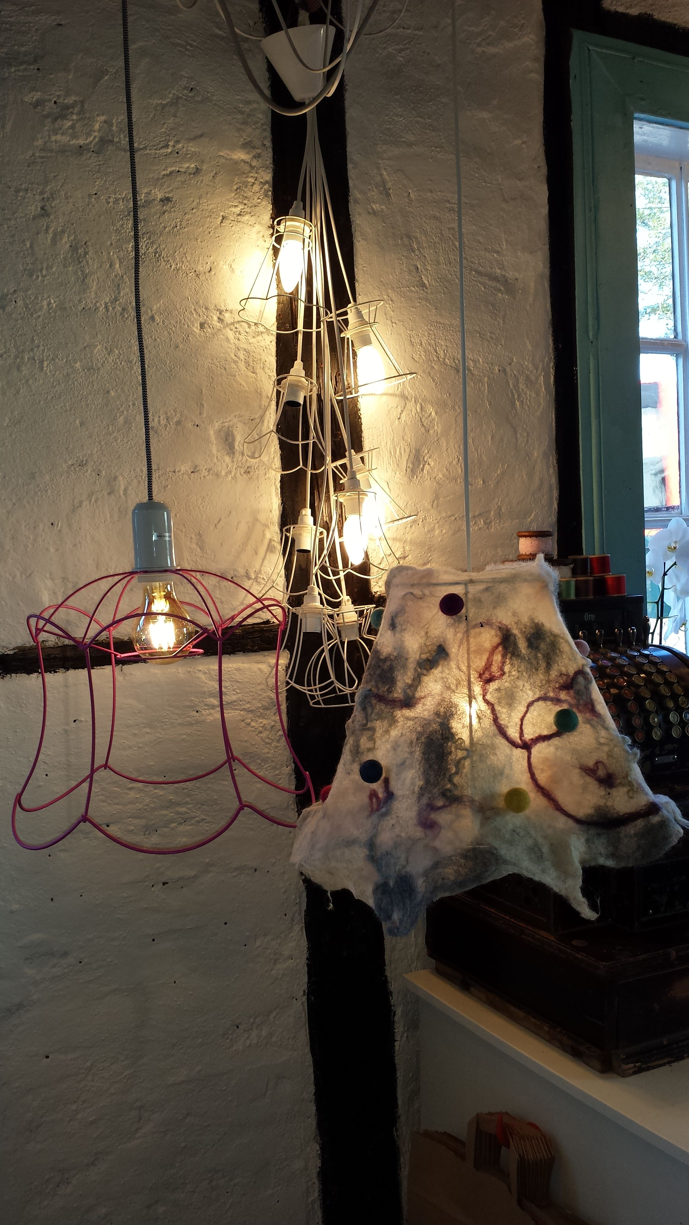 recycling old lamps lampshades