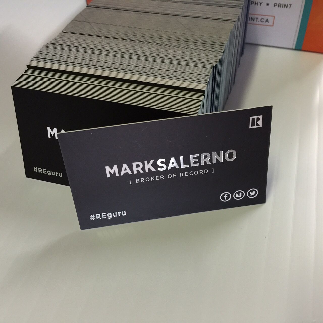 30 pt Silver foil, Matte laminated business cards. | Business Cards ...