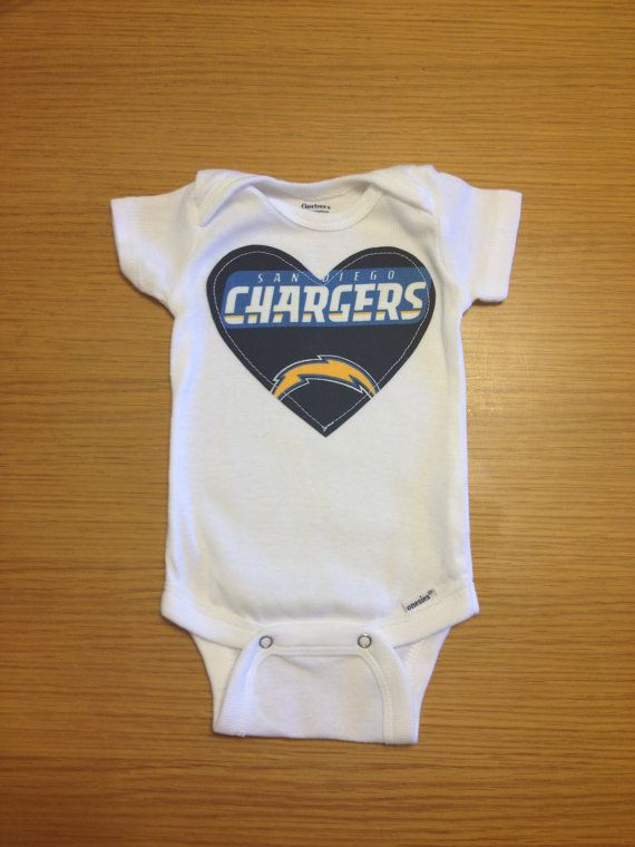 38b91ba5 San Diego Chargers Girls Onesie on Etsy, $15.00 seeing as how we ...