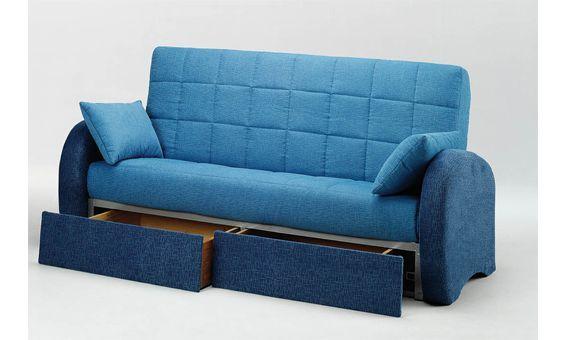 Sofa cama con cajones sofa cama tres plazas sofa cama tapizado en tela de color de la gama - Sofas con cajones ...