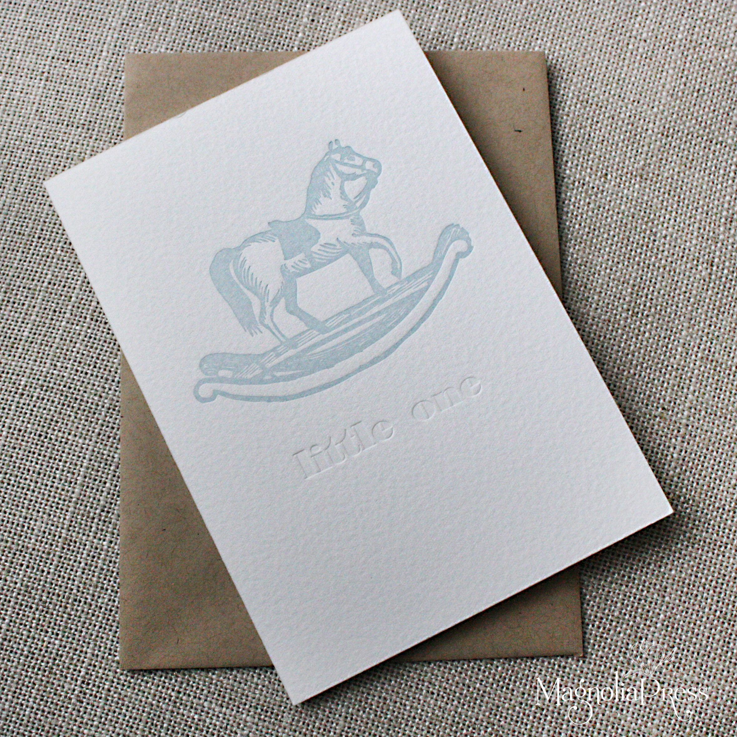 Rocking horse letterpress greeting card cards pinterest rocking horse letterpress greeting card m4hsunfo