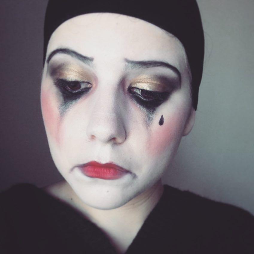 Pierrot Sad Clown Halloween Makeup Tutorial https://www.youtube ...