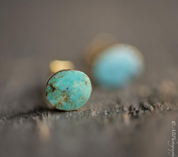 Photo of Raw Turquoise Earrings,Raw Blue Earrings,Turquoise Stud Earrings,Blue Turquoise …