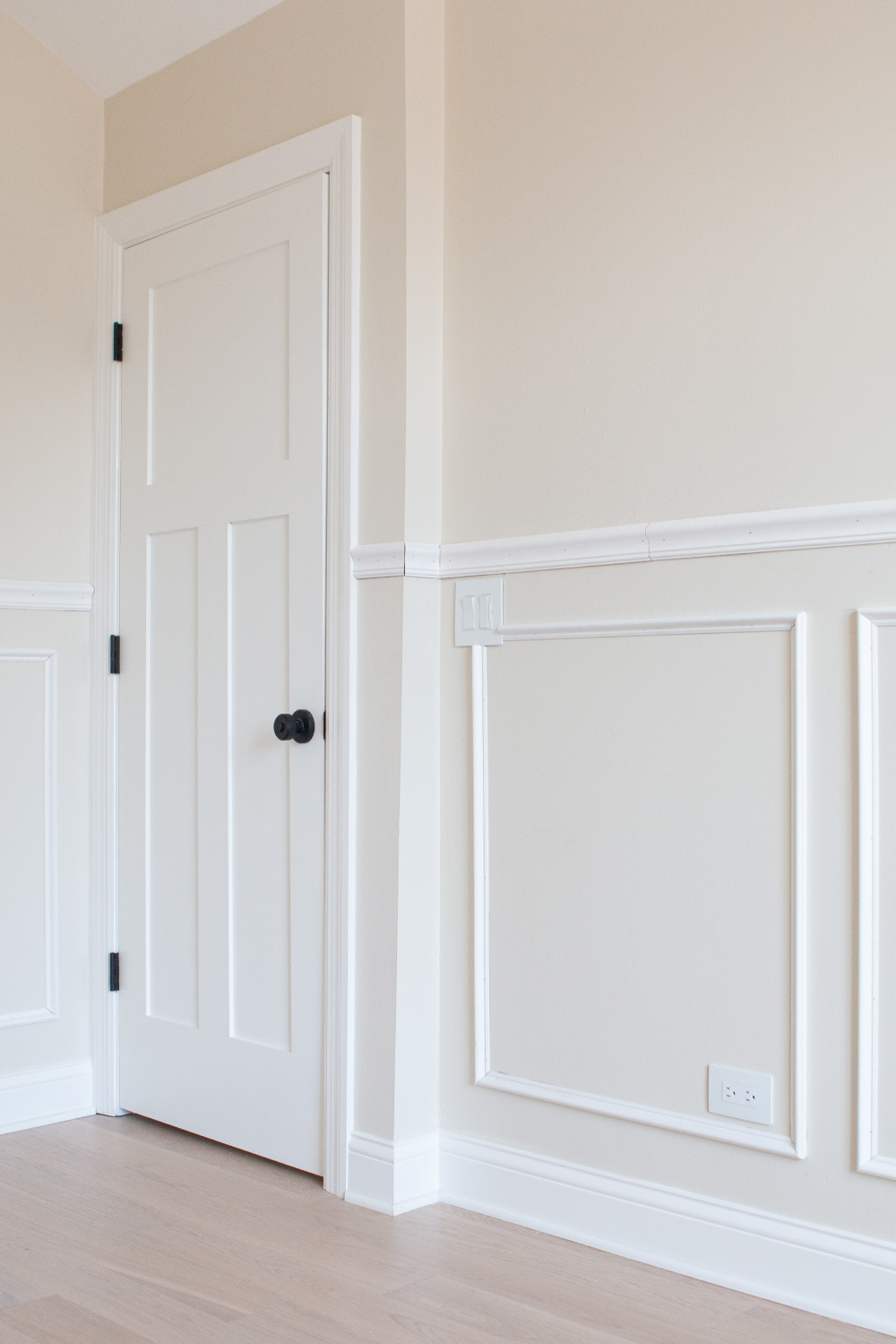 How To Add Chair Rail + Picture Frame Molding | The DIY ...