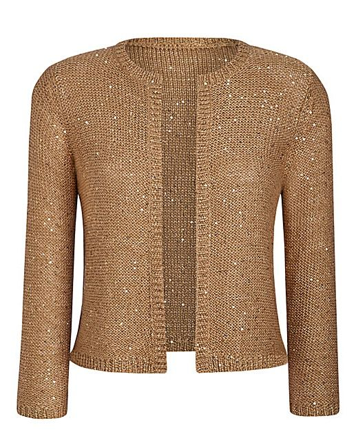If you want a light cover up for the start of the  evening. Sequin Shrug | J D Williams