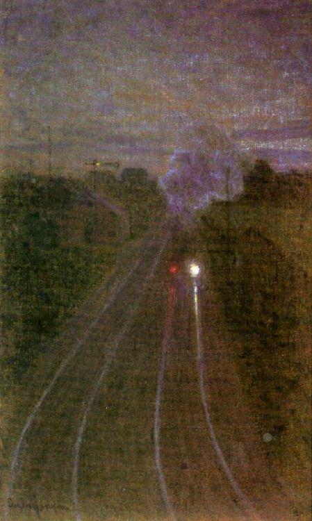 The Train,1895: Eugene Jansson, (Swedish 1862-1915).