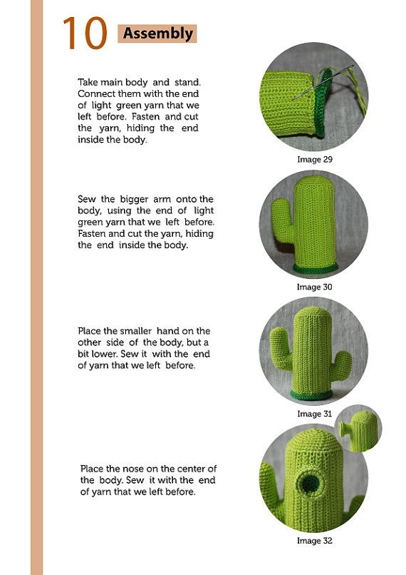 Crochet Pattern of Cactus from Plants vs Zombies por Aradiya ...