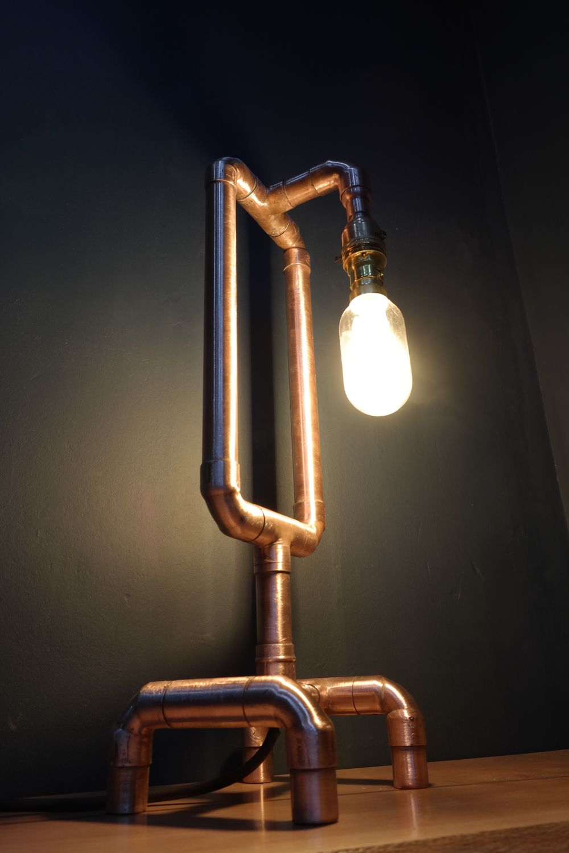 Hand Made Copper Pipe Lamps Copper Pipe Ideas Pipe