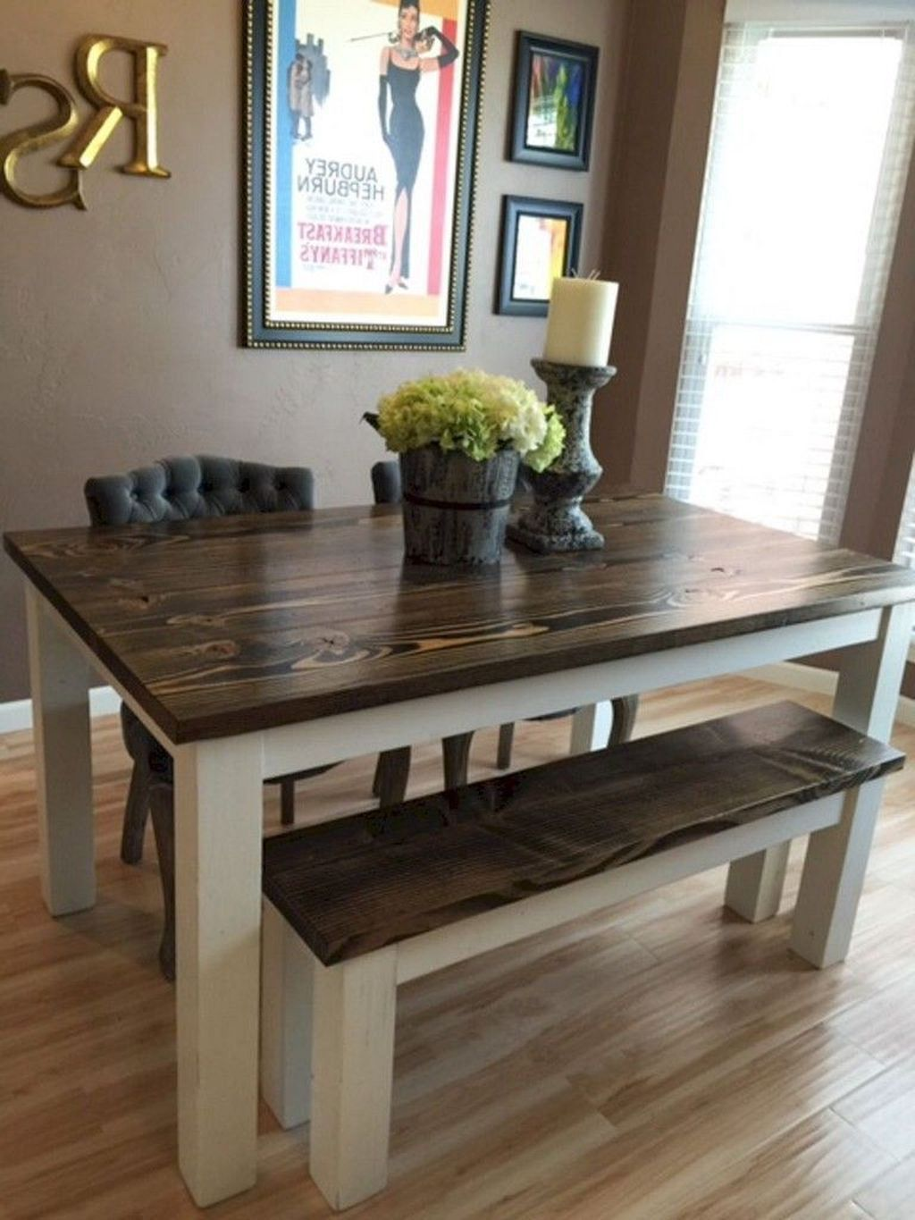 40 Pretty Farmhouse Table Design Ideas For Kitchen Best Home