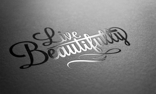 Live Beautifully by Insania Evidens, via Behance