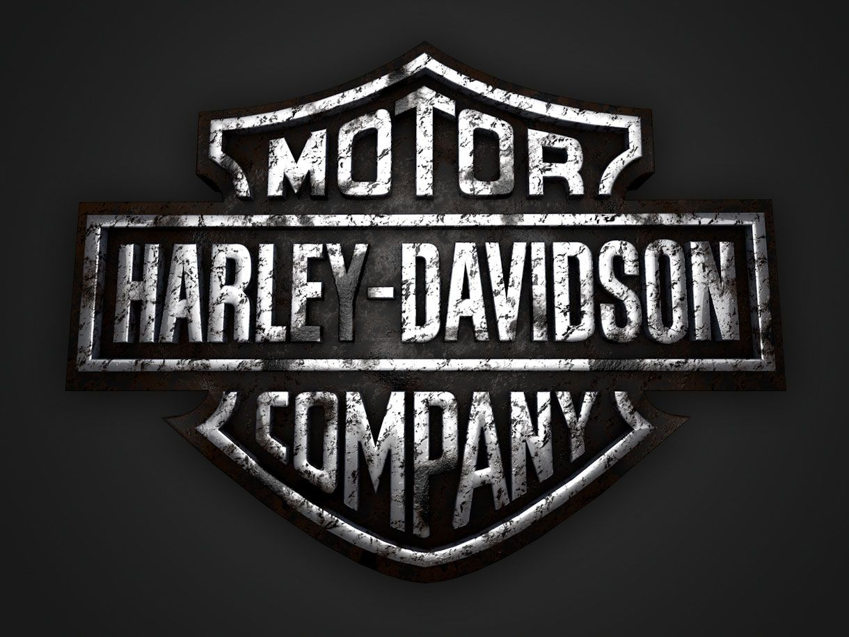 Cool 3D Harley Davidson logo designs Harley davidson
