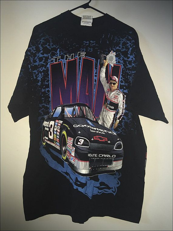 vintage 90 s nascar dale earnhardt the man all over print the