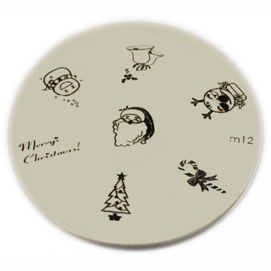 Konad Stamping Nail Art Image Plate - M12 (Christmas Designs ...