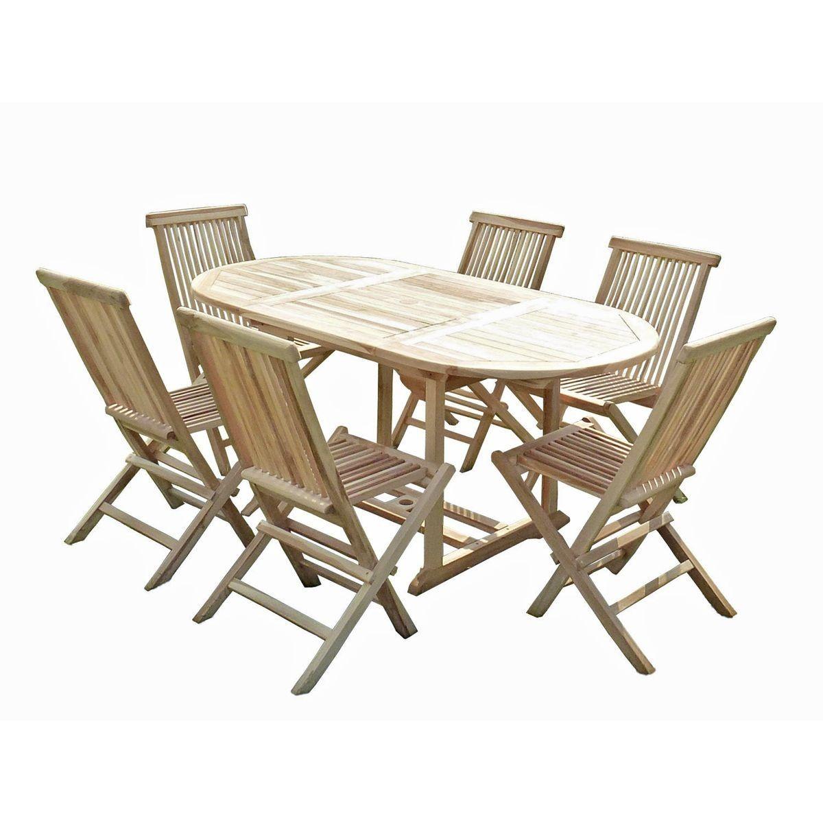Ensemble salon de jardin en teck SOLO 6 chaises en 2019 ...