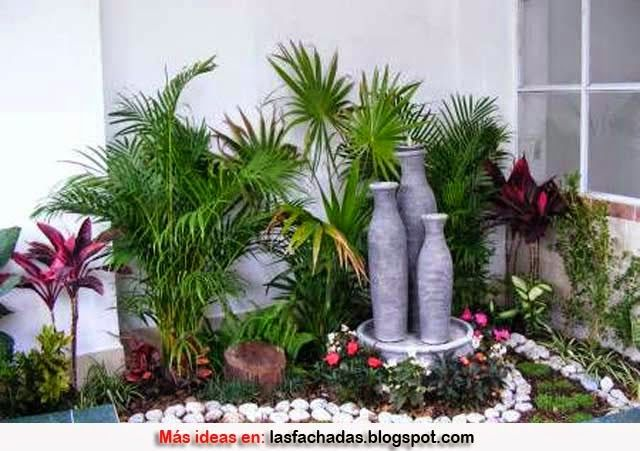 Dise o de jardines peque os lindo jardin pinterest for Piletas para jardines pequenos