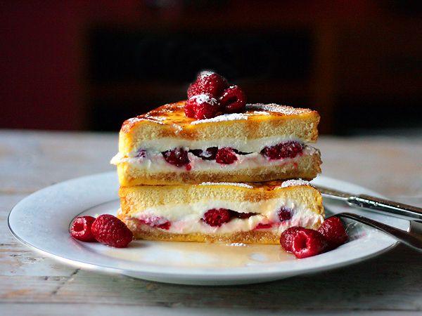 Raspberry and Ricotta Stuffed French Toast