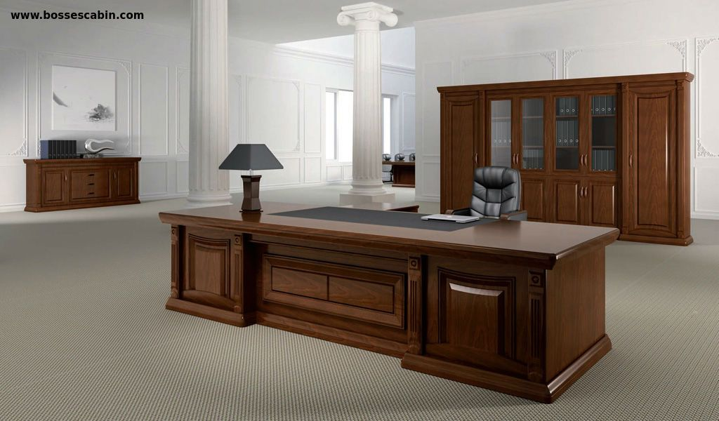Premium 9 Feet Office Table In Classical Style Boss Cabin Home
