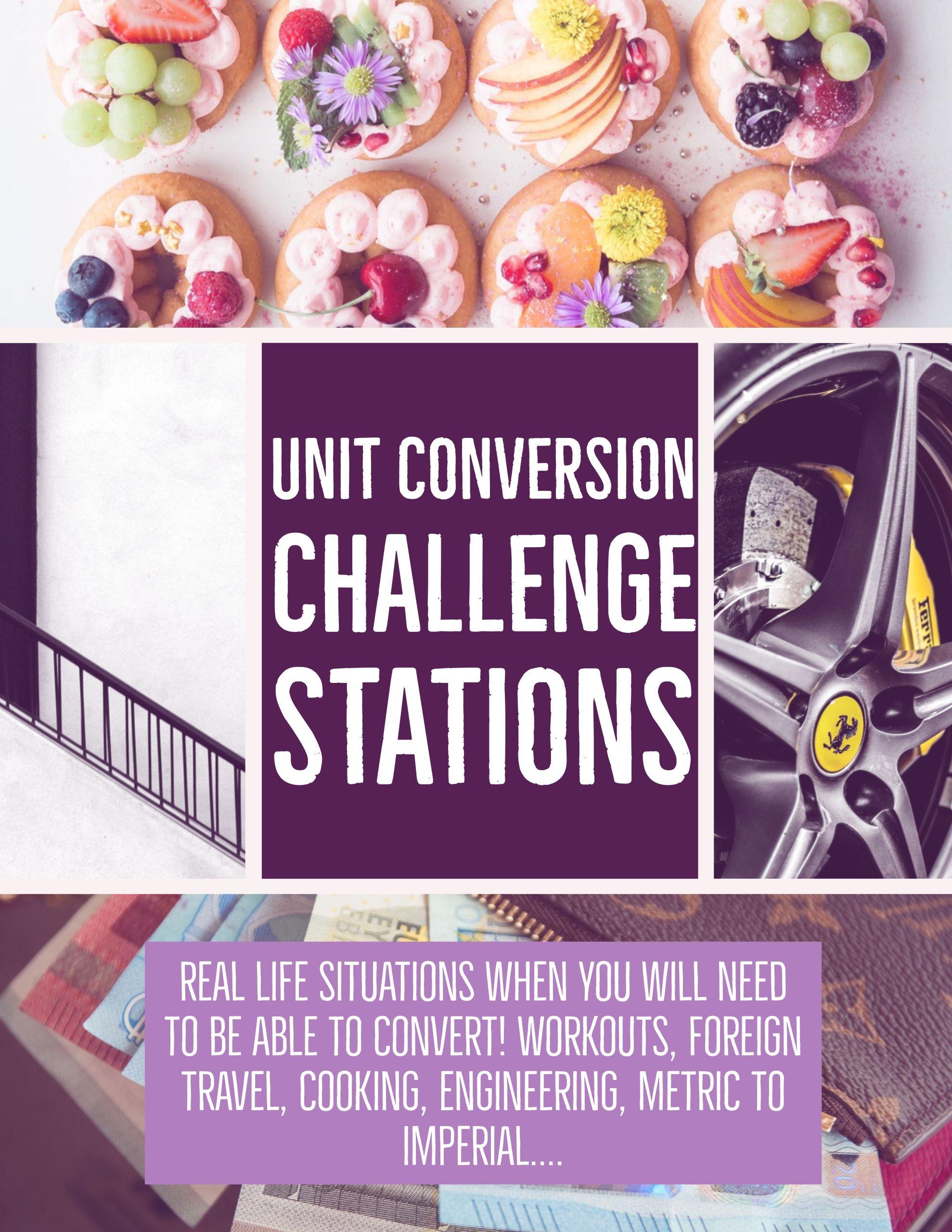 Unit Conversion Unit Factor Method Challenge Stations