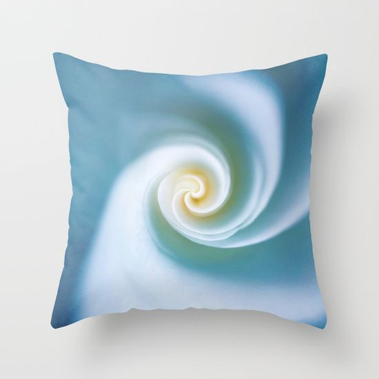 Blue Swirl Throw Pillow by Autum Sasala. Worldwide shipping available at Society6.com. Just one of millions of high quality products available.