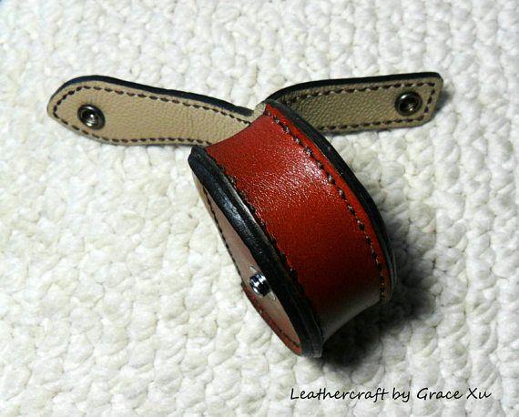 100/% hand stitched handmade dark brown cowhide leather dip snuff case  pouch  holder