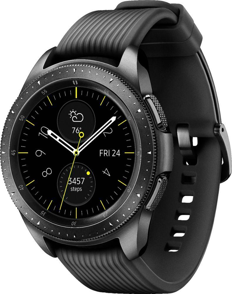 Samsung Galaxy Watch Gps 46 Mm Silver Stainless Steel Case Rubber Sport Galaxy Smartwatch Smart Watch Samsung Galaxy