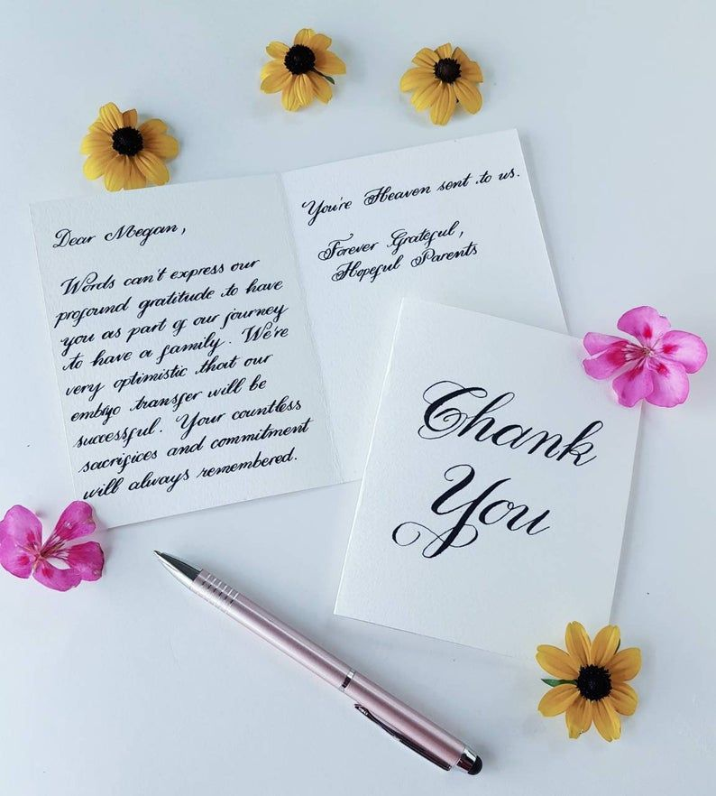 Handwriting Service Handwritten Congratulations Notes Handwritten Thank You Notes Wedding Thank You Cards