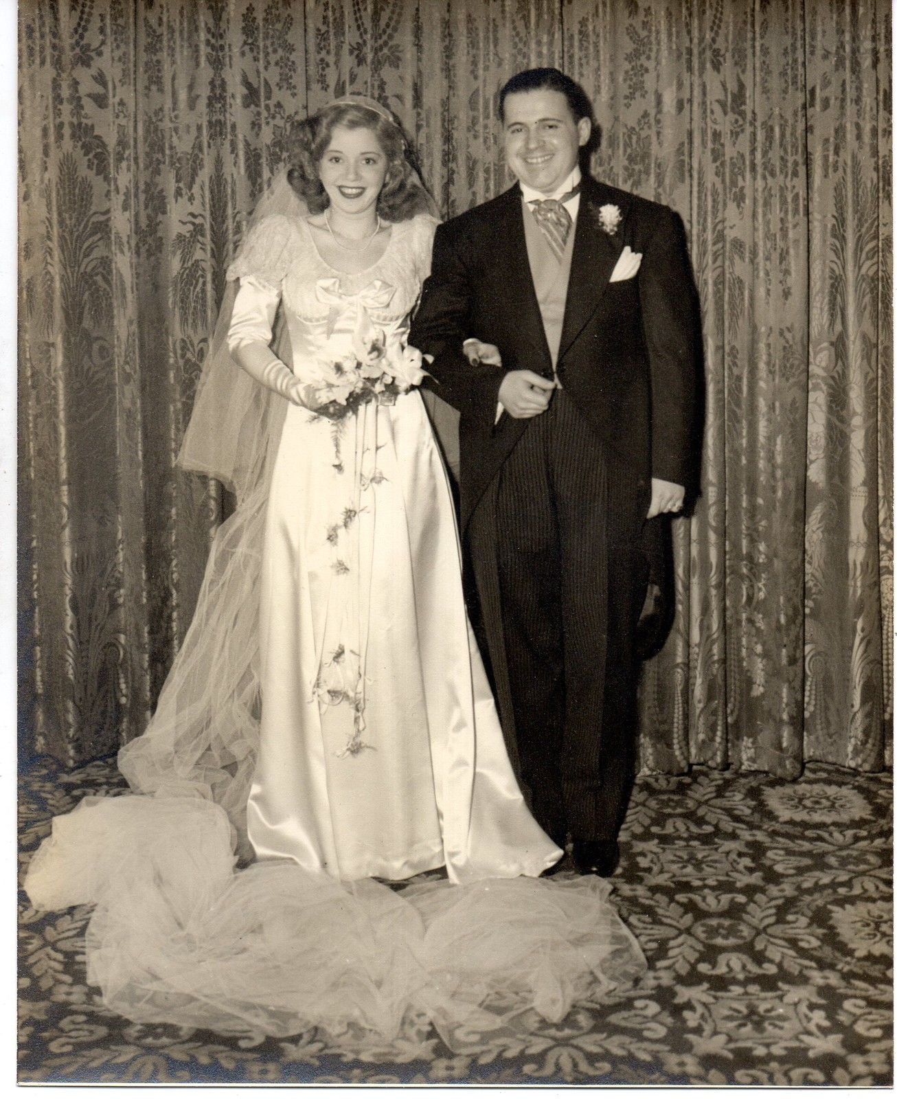 Wedding 1950 Portrait, Black & White Contemporary Image