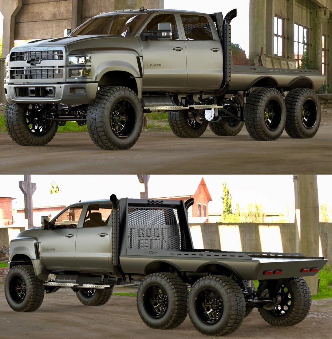 Flatbed Concept For The 2019 Gm 5500hd 6x6 Heavydsparks