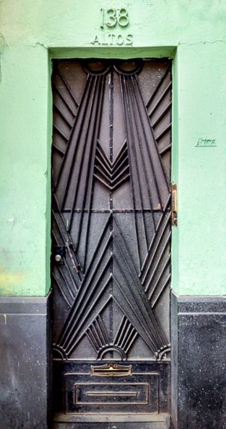 This Art Deco Door As A Cabinet Decal (Mexico City)