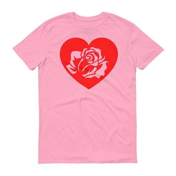 Red Rose Shirt Tumblr Heart Vintage Roses Enchanted Hearts Girl Power Sorority Gang TShirt