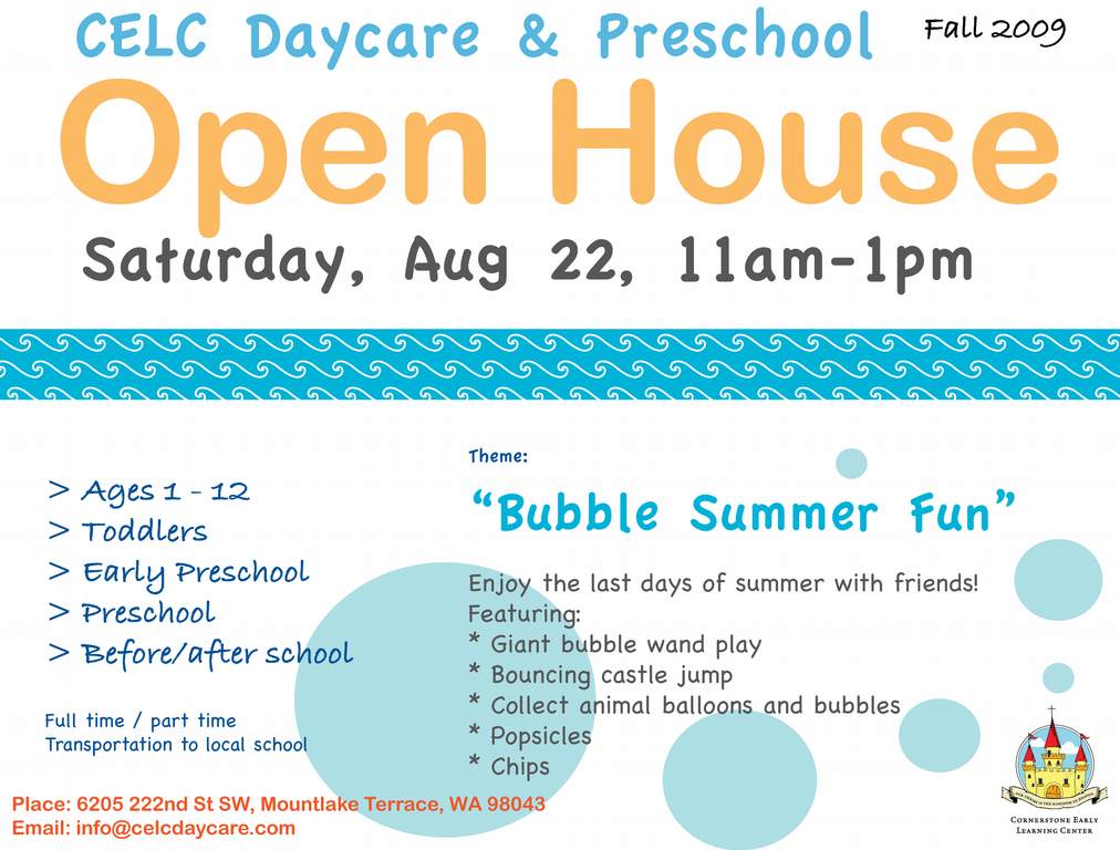 Celc Daycare Preschool Family Child Care Homeschool Programs Summer Preschool