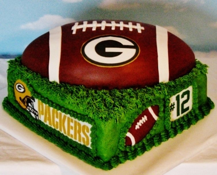Green Bay Packers Cake Football Nfl Green Bay Packers Cake Packers Cake Green Bay Packers Party